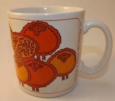 Vintage 1970's Alleniana Orange Sheep Mug 'Beth Sheba' Port Townsend WA VHTF