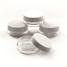 50 x 3ml PLASTIC SAMPLE POTS/JARS BEST QUALITY Glitter/Cosmetic/Cream jgw50