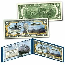 Iroquois Huey Bell Uh-1 Military Army Helicopter Vietnam War Official $2 Bill