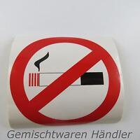 AUFKLEBER Rauchverbot 9,5 cm Rauchen verboten Nichtraucher auf Folie gedruckt