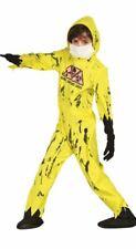 Chicos Amarillo Nuclear Zombie Halloween Vestido de fantasía Traje de Disfraz Mono Childs