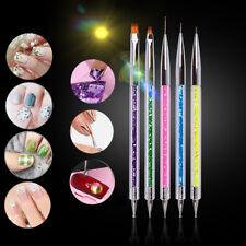 5PCS Nail Art Acrylic Pen Brush Builder Tool UV Gel Polish Drawing Pen Painting