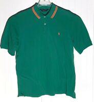 Ralph Lauren Polo Golf Mens Size L Green Athletic Fit Shirt Short Sleeve