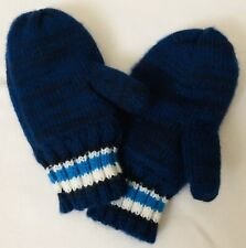 Toddler boy winter knitted gloves mittens, blue 2T-3T