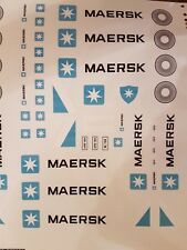 Replacement Stickers Lego 10219 Maersk Container Train Decals