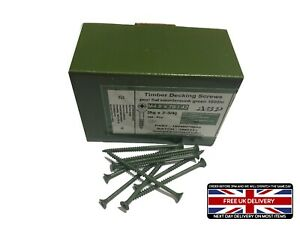 BOX OF 200 TRADE GREEN COATED DECKING DECK SCREW POZI Anti-Corrosion 4.0 x 30mm