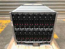 HPE BLc7000 Gen8 Enclosure w/ 16x HPE BL460c Gen8 2x E5-2670 2.6GHz Blades Svrs
