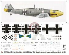 Peddinghaus 1/72 Bf 109 E-4 Markings Helmut Wick Stab./JG 2 France 1940 1771