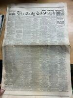 KING EDWARD VIII ABDICATES REPRINT 11 DEC 1936 DAILY TELEGRAPH UK NEWSPAPER