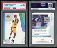 2018-19 Panini Status LeBron James PSA 10 #57 1st Year Los Angeles Lakers Jersey