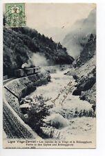 SUISSE SWITZERLAND Canton du VALAIS TRAIN sur la ligne VIEGE ZERMATT