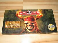 Monopoly Pirates Of The Caribbean Collector's Edition Board Game Complete 2006