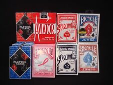 15 Mix Decks Poker Playing Cards 4 Brands (Bicycle Valet Streamline Aviator)