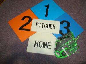"YOUTH Franklin Sports Baseball Fielding Glove / Mitt 10.5"" & foam bases,tee ball"