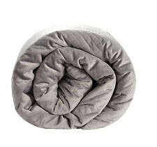 New BlanQuil Quilted Weighted Therapy Blanket (Grey 20lb)