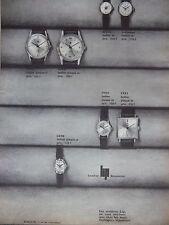 PUBLICITÉ DE PRESSE 1964 MONTRES LIP HOMMES FEMME GENÈVE BESANÇON - ADVERTISING