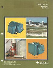 Gould Century Motors For The Farm Vintage Brochure Gould Inc. St. Louis MO