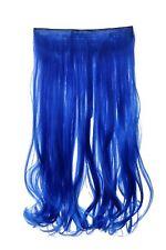 Postiche Extension large Extensions cheveux 5 Clips bouclée Néon bleu YZF-3178