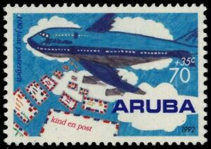 """ARUBA B30 - Postal Services Centenary """"Airplane and Letters"""" (pb18766)"""
