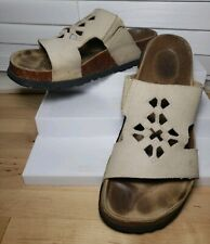 Betula Birkenstock Taupe Suede Cut-Out Comfort Slide Sandals EU 39/L8 M6