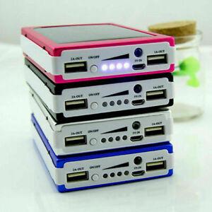 900000mAh 2 USB Slim Portable Solar Battery Charger Solar Power Bank For Phone