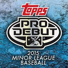 2015 TOPPS DEBUT PROSPECTS ROOKIE LOTS RC YOU PICK FROM DROP DOWN MENU U