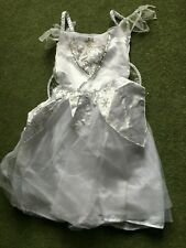 Girls white fairy dressing up/ fancy dress costume - Age 7-8 years