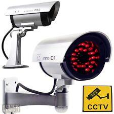 Fake Security Camera CCTV Outdoor Indoor Surveillance Dummy Cam 30 LED Imitation