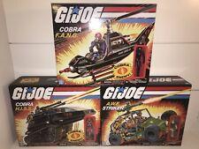 New listing G.I. Joe Cobra Hiss Tank, Awe Striker and Cobra Fang with Figures New