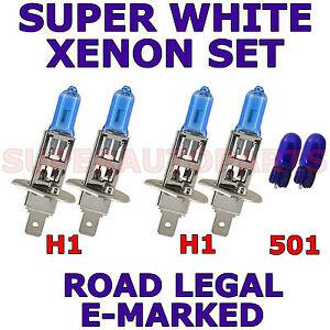 FIAT BRAVA HATCH 1996-2001 SET H1 H1 501 W5W XENON LIGHT BULBS