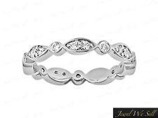 0.50Ct Round Diamond Alternating Twist Wedding Eternity Band Ring 18k Gold F VS2