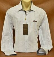 Brand New With Tags Men's GUCCI Long Sleeve Slim Fit Shirt Size M to 2XL