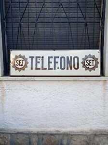 Insegna telefono pubblico S.E.T. anni 20