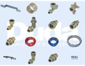 TECE Flex Winkel Wandscheibe Rohr Montageeinheit Bogen T-Stück