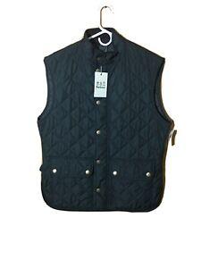 Barbour Men's Lowerdale Gilet Dark Green Quilted Full Zip Vest Large