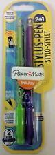 Paper Mate Ballpoint 2 in 1 Stylus Pen - Green + Purple