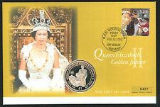 2002 Golden Jubilee coin FDC - $1 & Georgetown, Guyana PCM