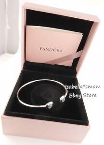 """Authentic PANDORA Silver SIGNATURE LOGO Bracelet 6.9"""" 17.5cm 590528CZ w BOX"""