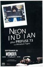 Neon Indian 2010 Gig Poster Portland Oregon Concert