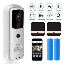 Home Wireless WiFi Video Doorbell Smart Door Bell Cordless Portable