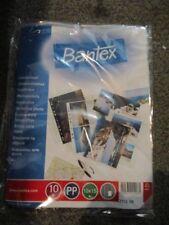 10 x BANTEX A4 CARD/PHOTO PUNCH POCKETS-GLASS CLEAR 10X15Cms 211208