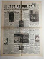 N321 La Une Du Journal l'est républicain 31 Janvier 1933 Hitler chancelier Reich