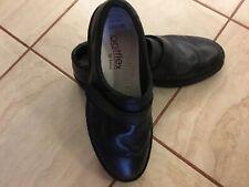 MENS BLACK LOTUS SHOES SIZE 8  FOOTFLEX VELCRO FASTENING. EXCELLENT CON COST £60