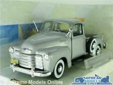 CHEVROLET 3100 PICK UP MODEL CAR TRUCK 1:43 SCALE SILVER CARARAMA AMERICAN USA K