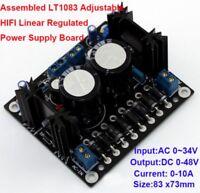 Assembled LT1083 Adjustable HIFI Linear Regulated Power Supply Board Dual 0-48V