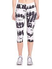 NWT $78 Alo Yoga Airbrush Capri Crop Pants in White Tie Dye sz M
