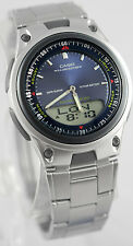 Casio AW-80D-2AV Blue Databank Watch Steel Band 10 Year Battery World Time New