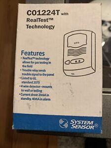 System Sensor CO1224T Carbon Monoxide Detector, 12/24V, 4-Wire Man Date 6/11/14