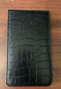 Golf Scorecard & Yardage Book Holder / Cover - Black