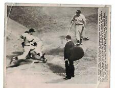 1956 Mickey Mantle & Yogi Berra New York Yankees USED AP Wire Photo CH45